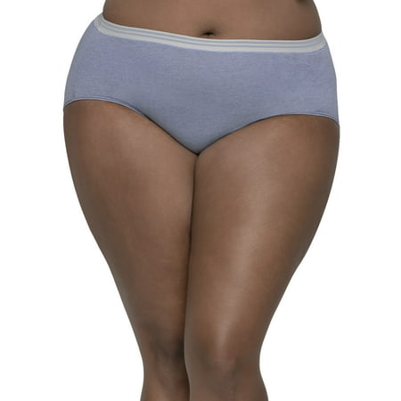 Fit for Me by Fruit of the Loom Women's Plus Assorted Heather Brief Panties - 5