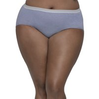 Fit for Me by Fruit of the Loom Women's Plus Assorted Heather Brief Panties - 5 Pack