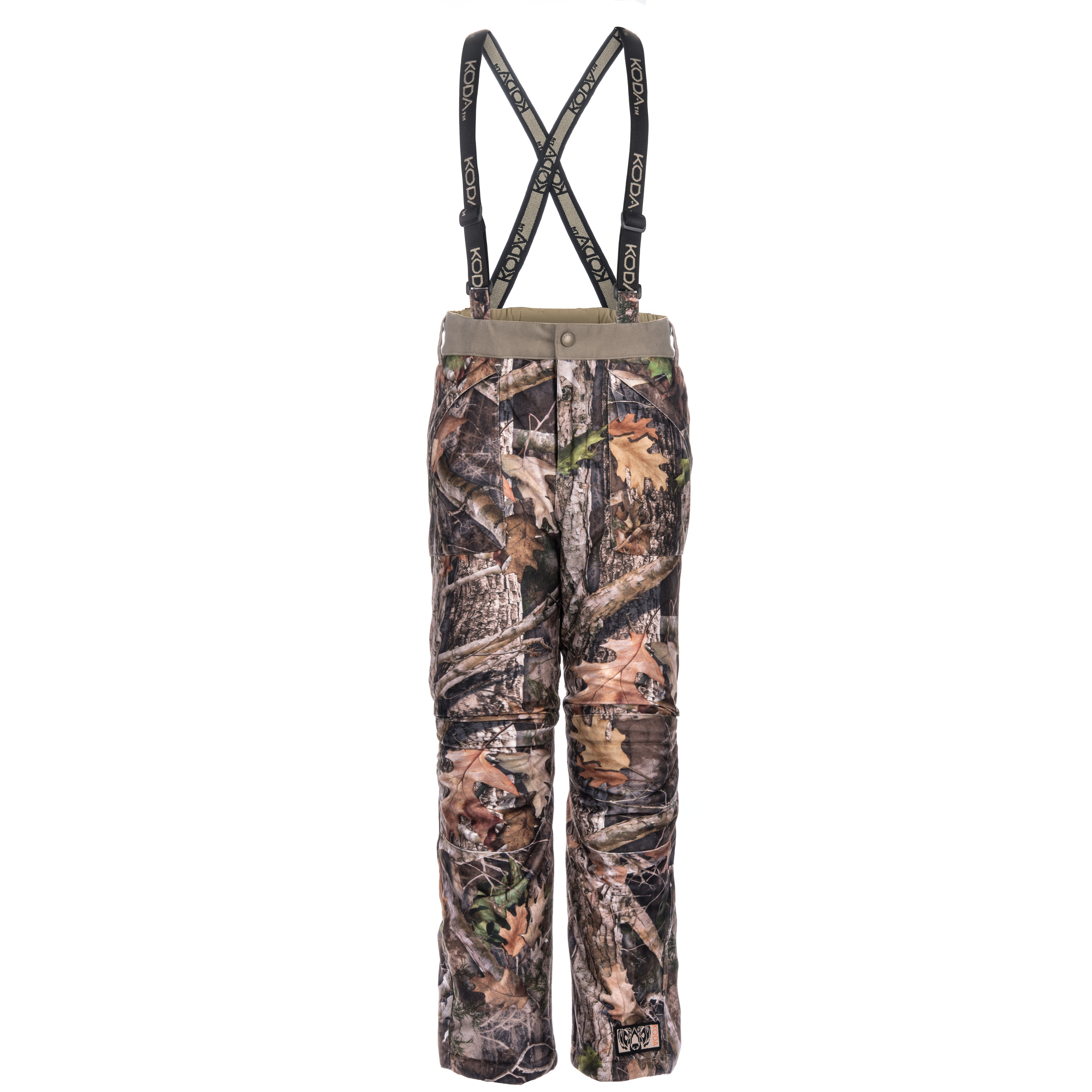 Koda Adventure Gear Kids True Timber Insulated Camo Hunting Suspender Pants, Kanati, S