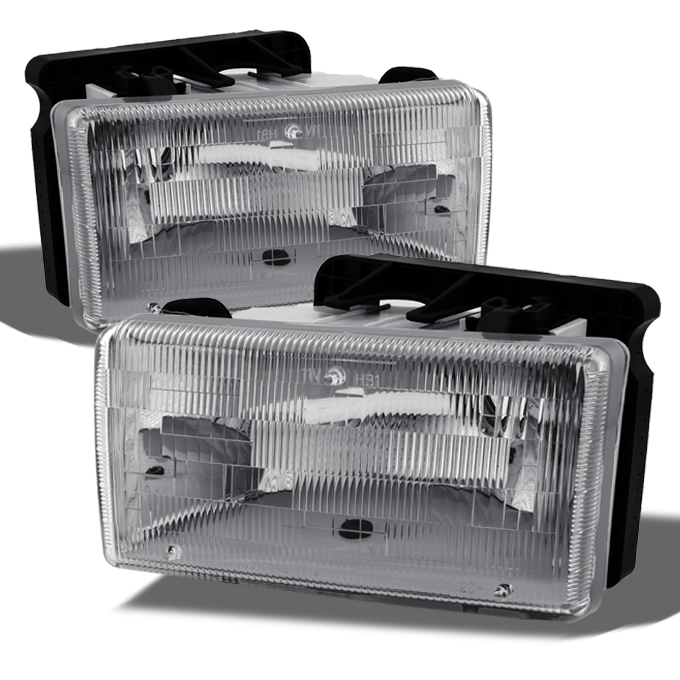 91-96 Dodge Dakota Truck Replacement Clear Headlights Hea...
