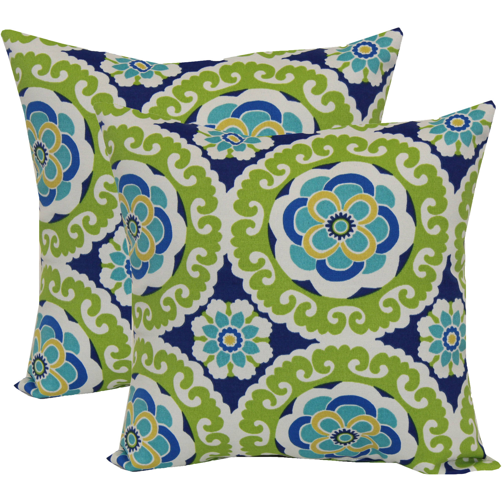 Mainstays Halina Outdoor Toss Pillow, 2 Pack