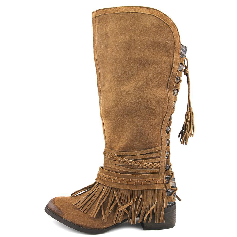Naughty Monkey Zarape Women  Round Toe Leather Tan Boot