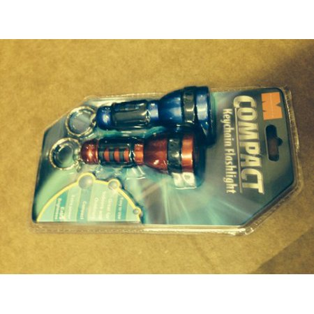 Compact Keychain Flashlight Set of 2- Red and Blue - Keychain Flashlights