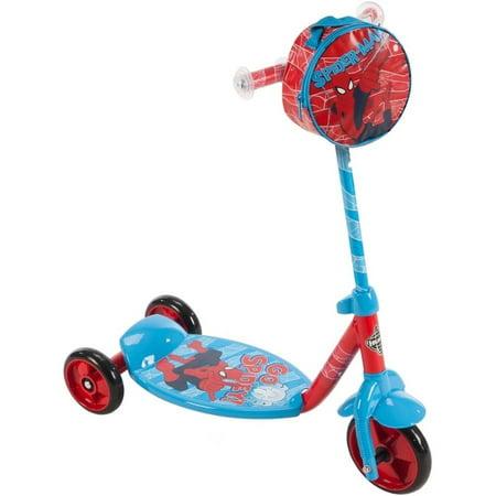Marvel Spider-Man Boys 3-Wheel Preschool Scooter by Huffy