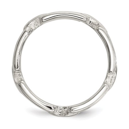 925 Sterling Silver Link Band Ring Size 6.00 Fine Jewelry For Women Gifts For Her - image 3 de 8