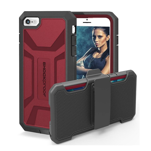 iPhone 6 6S Shockproof Case & Belt Clip Holster with Built-in Screen Protector [Pantera Series] (By Encased)