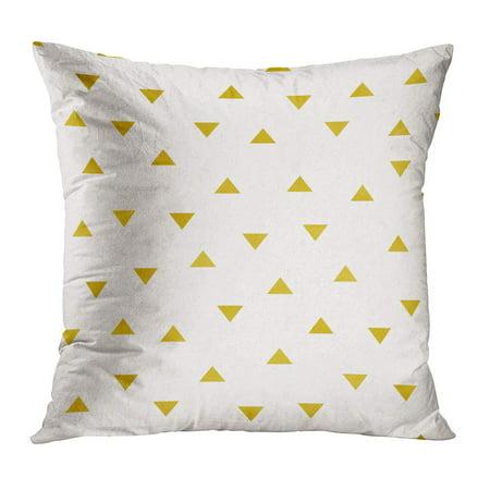 ECCOT Confetti Watercolor Gold Foil Triangle Pattern Star Abstract Antique Bright Bronze PillowCase Pillow Cover 18x18 (Antique Foil)