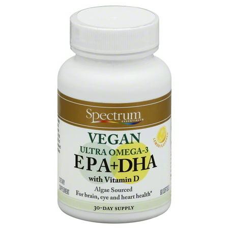 Hain Celestial Group Spectrum Essentials EPA+DHA, 60 - Spectrum Lg Fish Formula