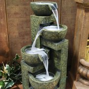 "Best Indoor Fountains - Alpine Corporation 24"" Indoor & Outdoor 3-Tier Cascading Review"