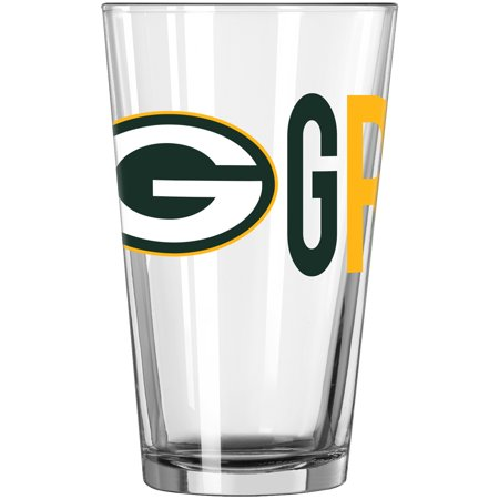Green Bay Packers 16oz. Overtime Pint Glass - No Size](Glass Monkey Green Bay)