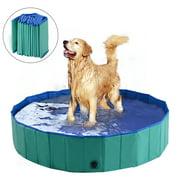 """PawHut Foldable PVC Pet Swimming Pool (63"""" x 12"""")"""