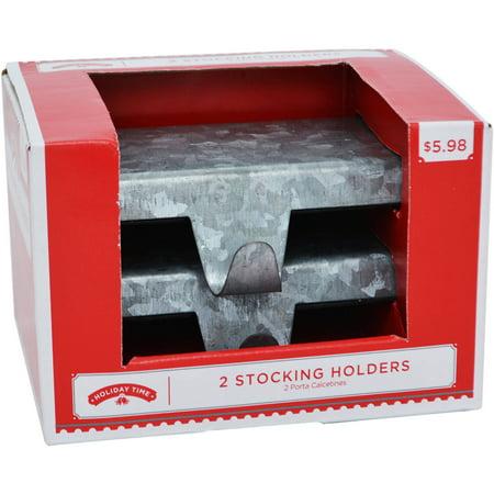holiday time christmas decor 5 stocking holder base set. Black Bedroom Furniture Sets. Home Design Ideas