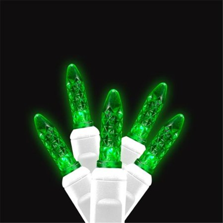 Green Wave - Reinders 88644-R Icicle LED Light Strands - Green Full Wave with White Wire