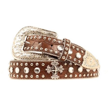 Blazin Roxx Western Belt Womens Crystals Gator Warm Earth N3515602 ()