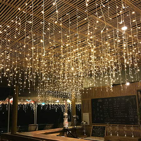 Yosoo 210 LED Fairy Net Light Mesh Curtain String Wedding Christmas Party Decor US, Curtain String Light, Mesh Net Light ()