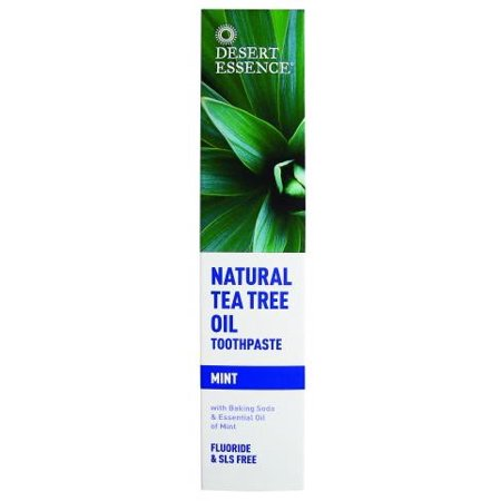 Desert Essence Natural Tee Tree Oil Fluoride-Free Toothpaste, Mint, 6.25 Oz ()