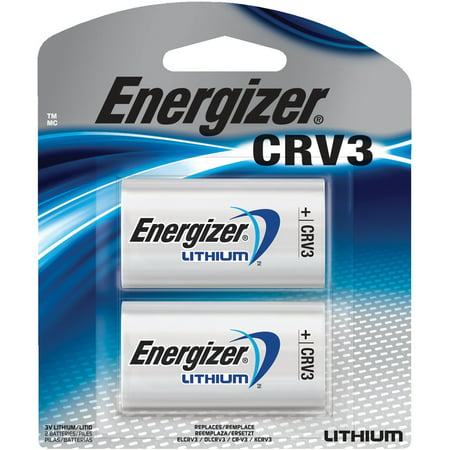 Energizer Lithium Photo Battery, CRV3, 3V, 2/Pack