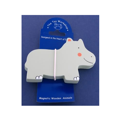 Magnetic Wooden Hippo Magnet by The Toy Workshop