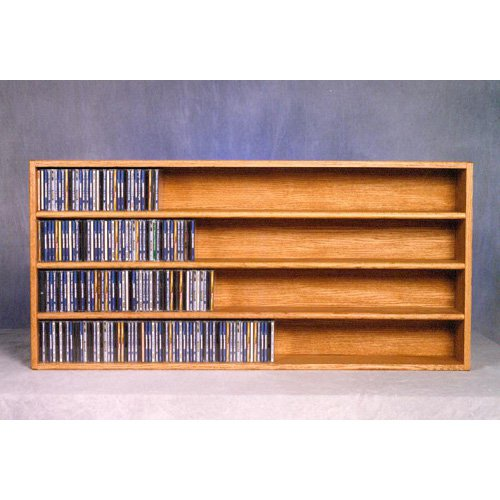 The Wood Shed Solid Oak Wall / Shelf Mount 476 CD Media Cabinet