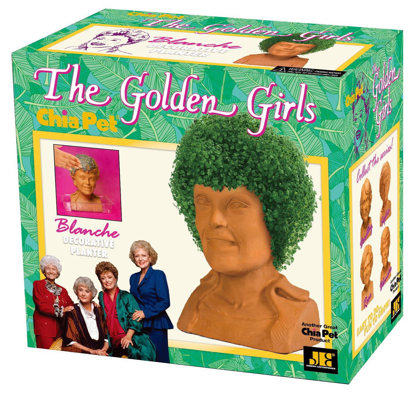"Chia Pet ""Golden Girls"" Collection - ""Blanche"" - Decorative Planter"