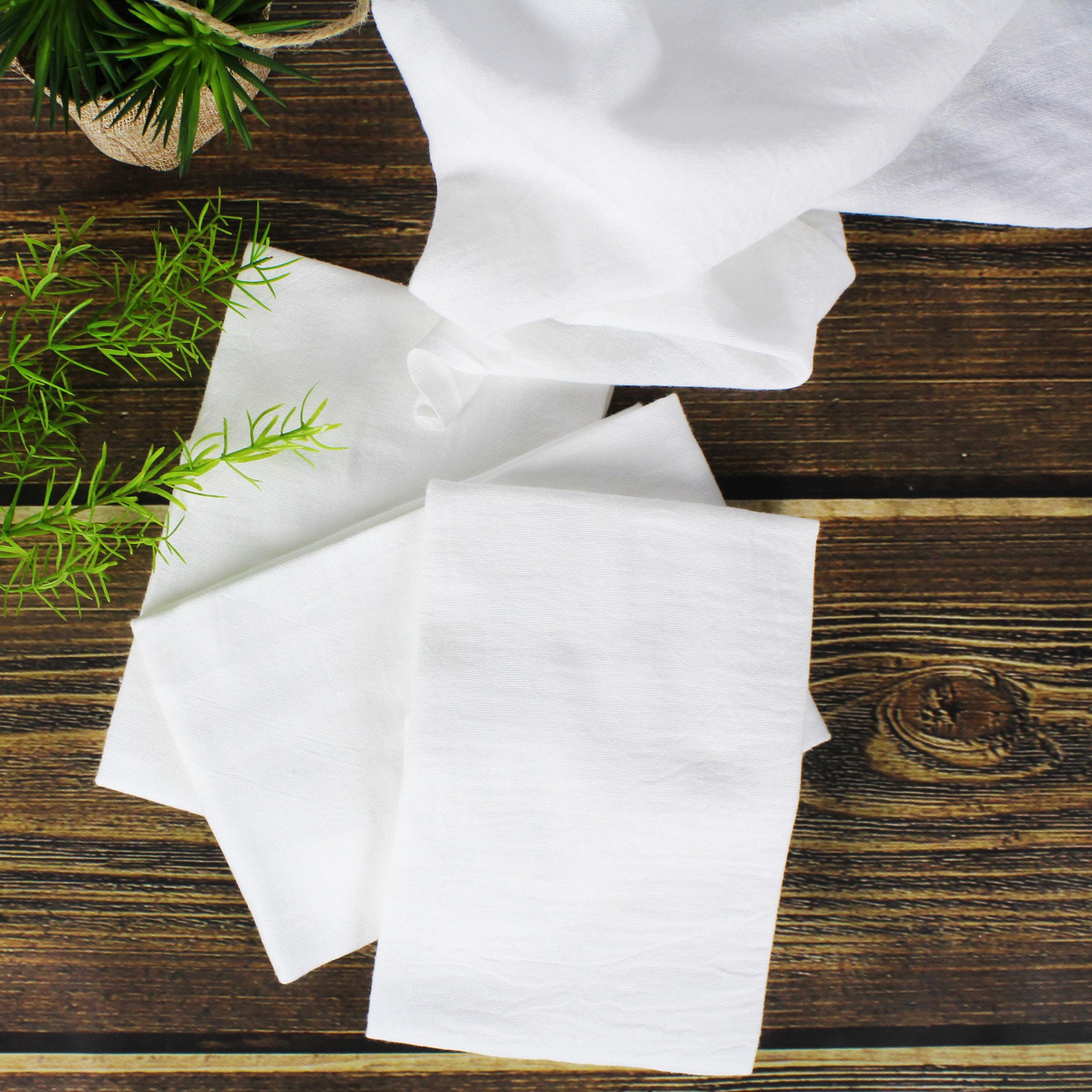 Mainstays Flour Sack White Kitchen Towel, 5 Count   Walmart.com
