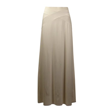 Eci New York Women S Crisscross Seamed Solid Jersey Maxi Skirt