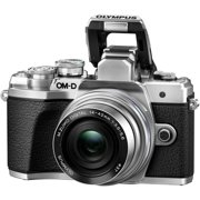 Olympus OM-D E-M10 Mark III 16.1 Megapixel Mirrorless Camera with Lens, 14 mm, 42 mm, Silver
