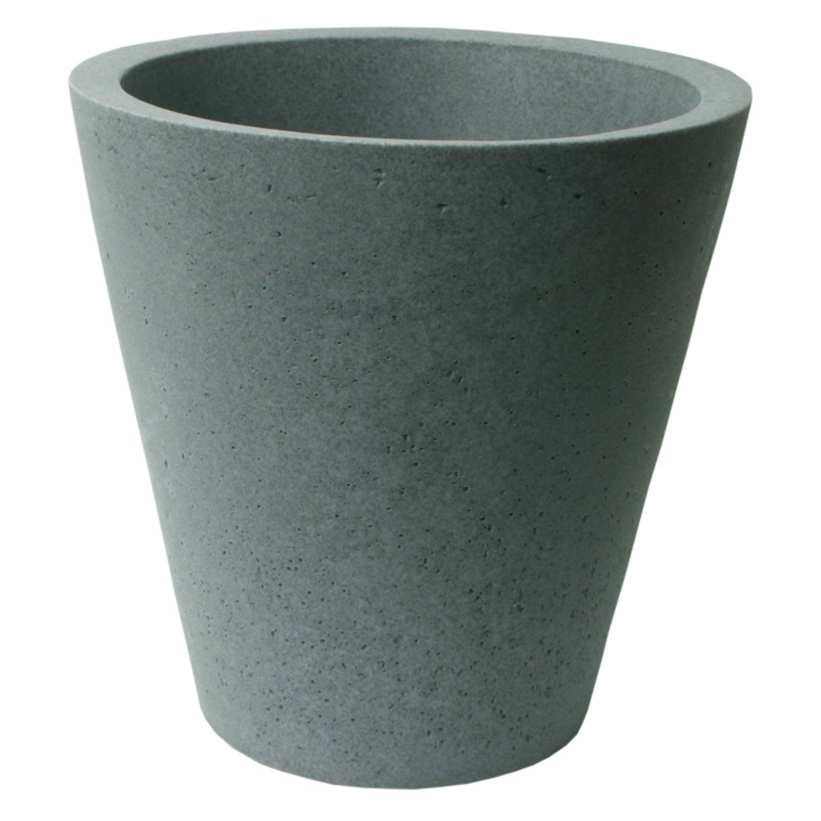 Algreen Crete Planter, Self-Watering Planter, 16.5-In. Height by 16-In., Concrete Texture, Charcoalstone