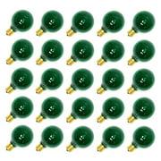 Sival 70173 - G50 Intermediate Screw Base Transparent Green (25 pack) Christmas Light Bulbs