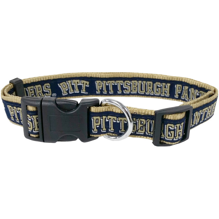 Pets First College Pitt Panthers Pet Collar, 3 Sizes Available, Sports Fan Dog Collar