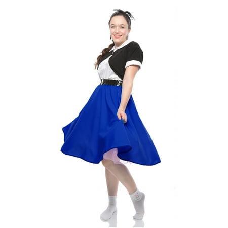 Full Circle Skirt - 50s Style Twirl Skirt - Elastic Waist - Royal (Sew Twirl Skirt)