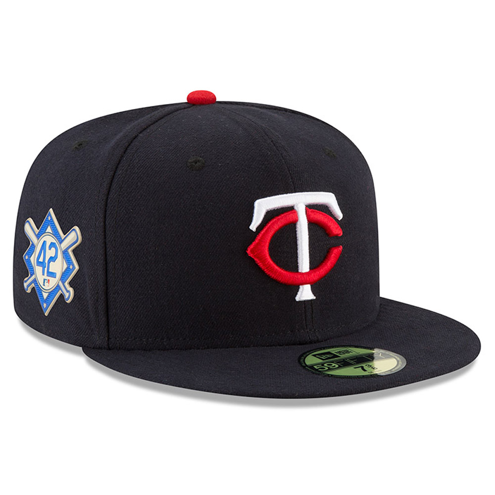 Minnesota Twins New Era Jackie Robinson Day 59FIFTY Fitted Hat - Navy