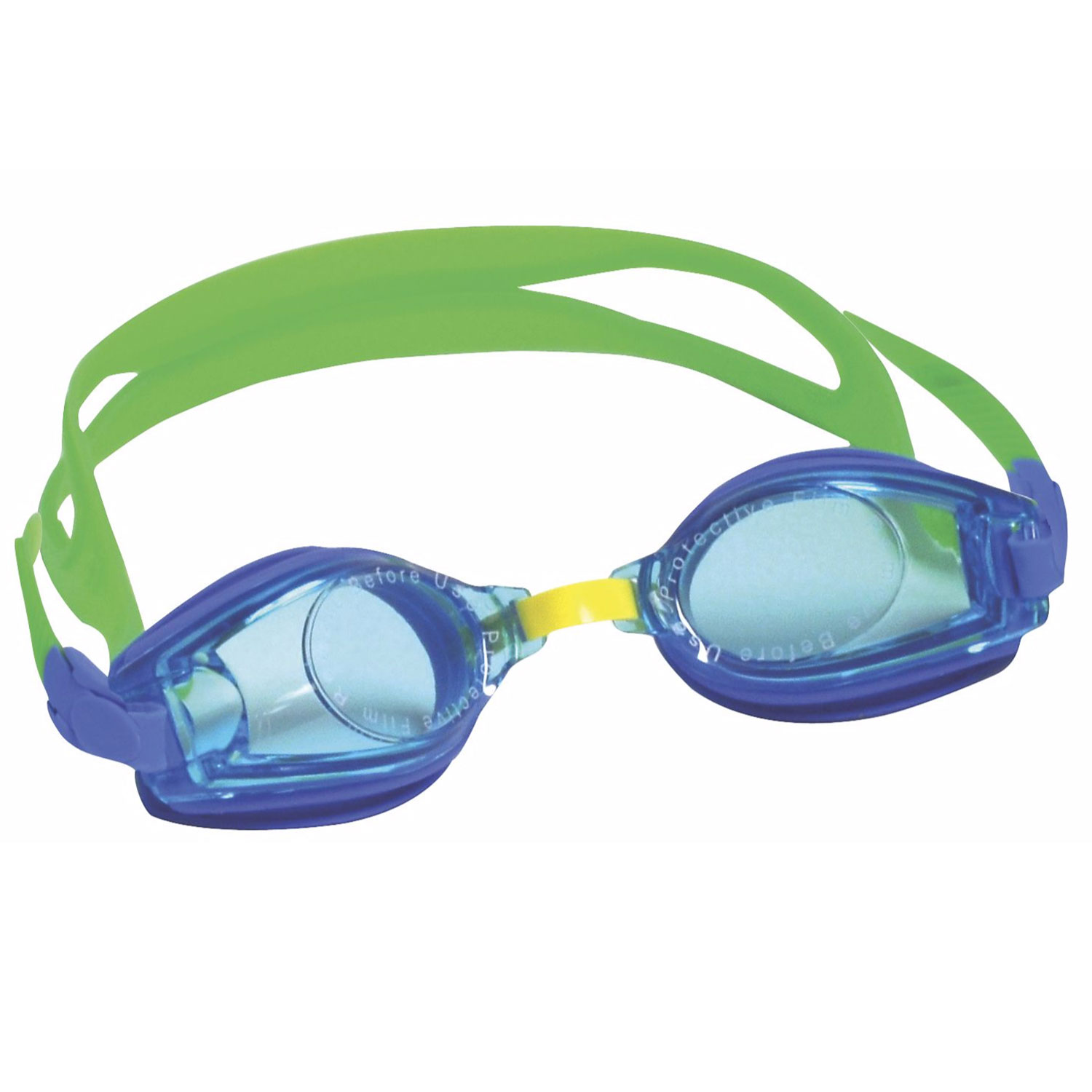 Kids Blue Swim Goggles Anti-Fog, UV Protection Toddler Boys Ages 2-5 by One Step Ahead