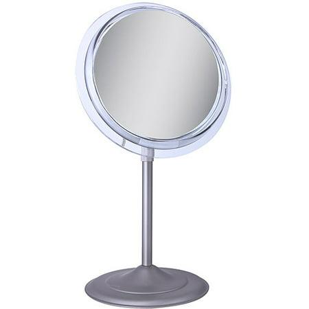 Adjustable Pedestal Vanity - SA45 Zadro Surround Light Pedestal Vanity Mirror with 5x Magnification