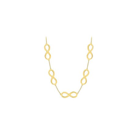 Infinity Link Necklace with 18K Yellow Gold Vermeil in Sterling Silver 17 Inch Necklace - image 2 of 2