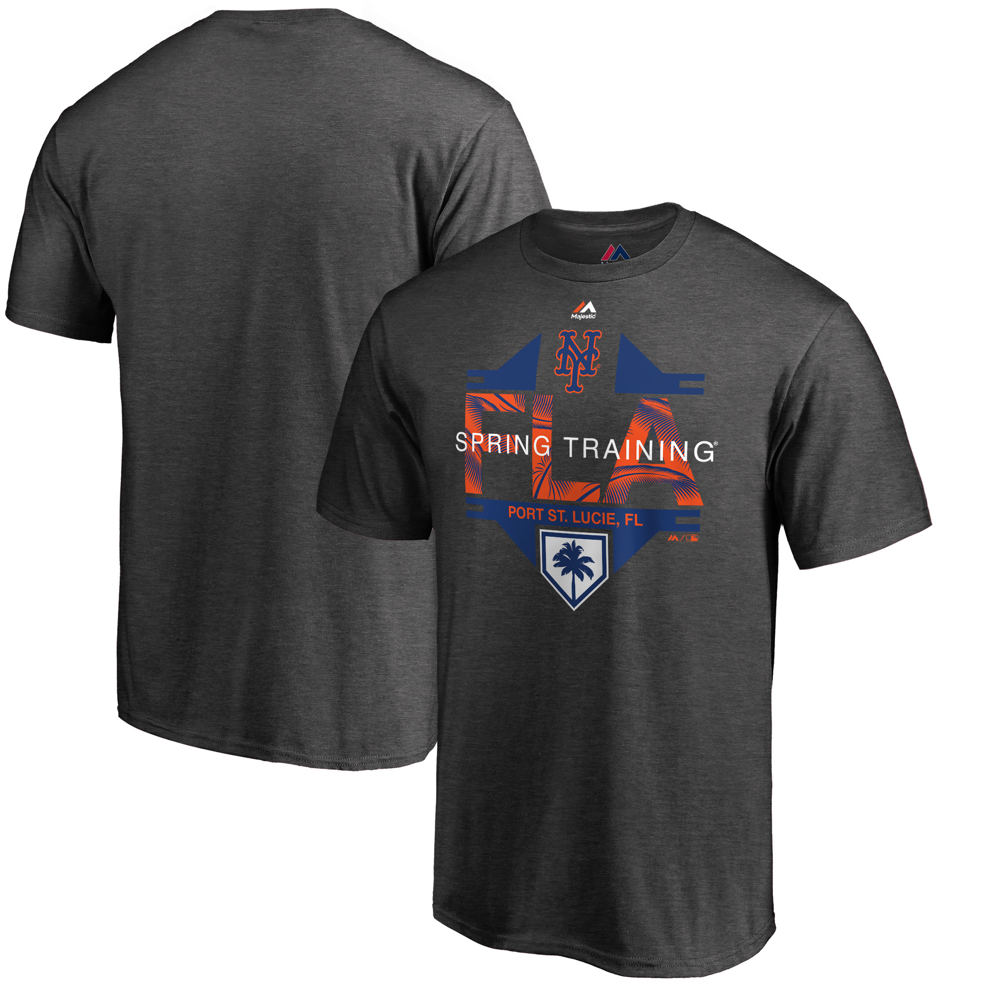 New York Mets Majestic 2019 Spring Training Grapefruit League Winner T-Shirt - Heather Gray