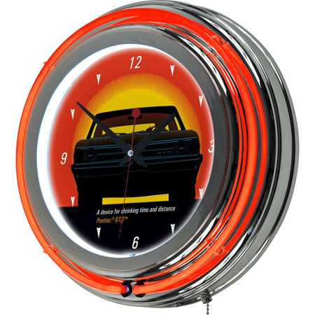 Trademark Global Pontiac GTO Time and Distance Double Ring Neon Clock