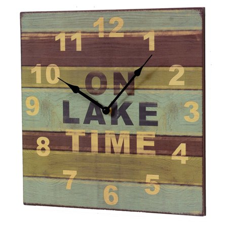 On Lake Time Wood Wall Clock