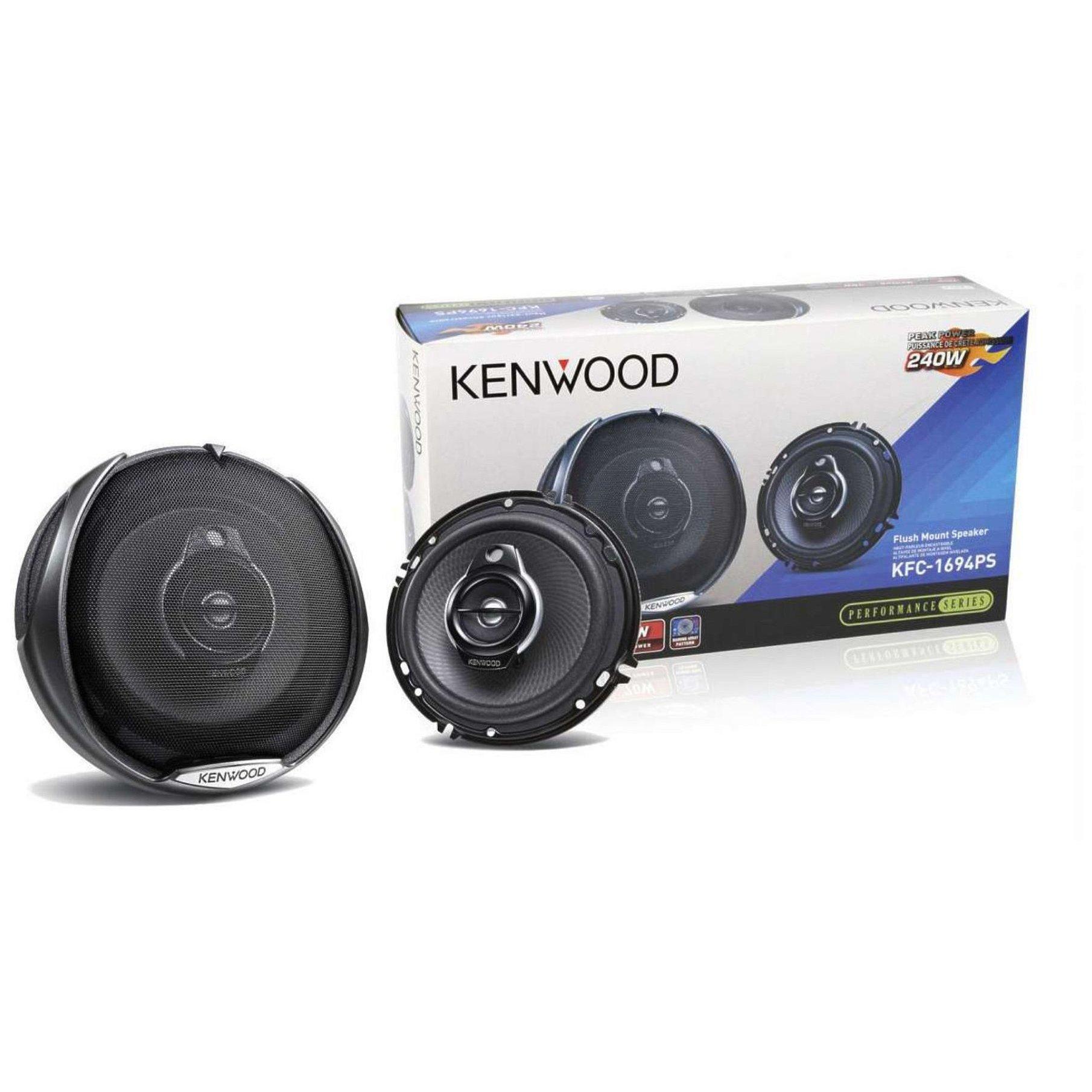 "Kenwood KFC-1694PS 6 1/2"" 3 Way Car Speaker Pair 6.5 New KFC1694PS"