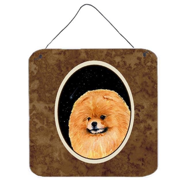 Carolines Treasures SS8481DS66 6 x 6 in. Starry Night Pomeranian Aluminium Metal Wall or Door Hanging Prints - image 1 of 1