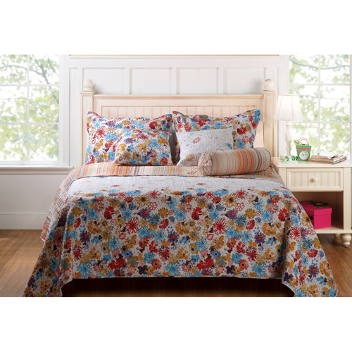 Global Trends Daisy Shower Reversible Quilt Set