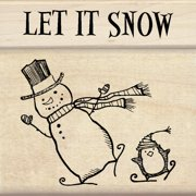 "Petaloo 7318449 Inkadinkado Mounted Rubber Stamp Set 3""x3""-let It Snow"