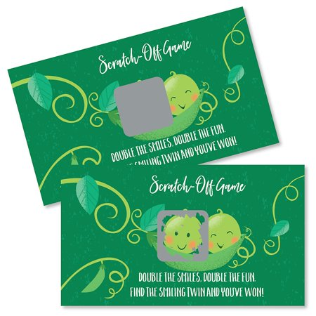 First Birthday Activities (Double the Fun - Twins Two Peas in a Pod - Baby Shower or First Birthday Party Game Scratch Off Cards - 22)