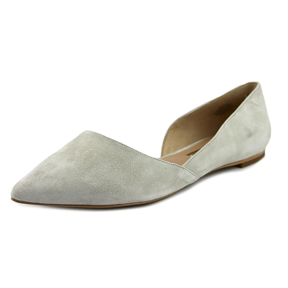 Audrey Brooke Nolan Women  Pointed Toe Suede Gray Flats