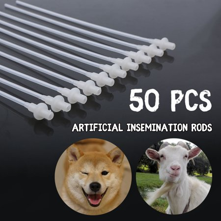 50Pcs 10'' Disposable Artificial Insemination Rods Tube For Dog Goat Sheep Breed Rod Test - Disposable Test Tubes