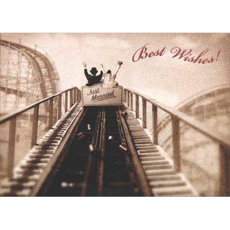 Avanti Press Just Married Roller Coaster Premium Wedding / Marriage Congratulations Card](Halloween Roller Coaster)