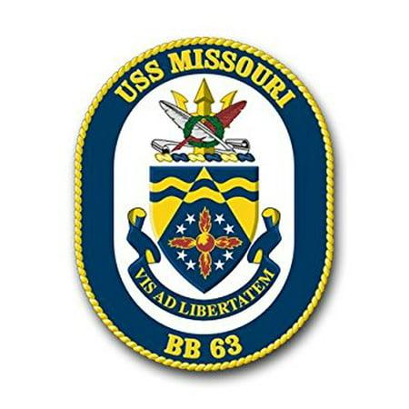 US Navy Ship USS Missouri BB-63 Decal Sticker 5.5