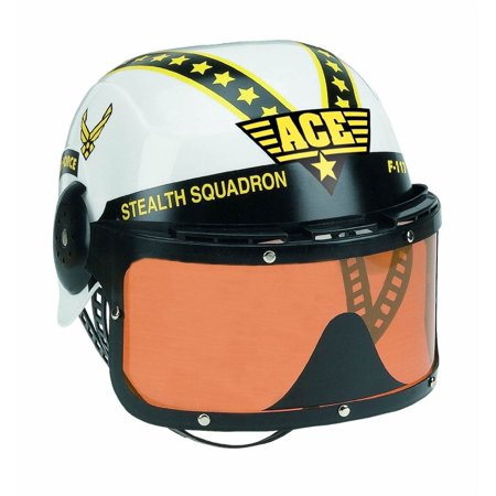 Jr. Armed Forces Pilot Helmet in White (Rebel Pilot Helmet)