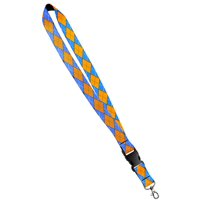 Print Lanyard- Satin Key Lanyard With Side Release Buckle and Snap, ID Holder -  1 Inch, Universe