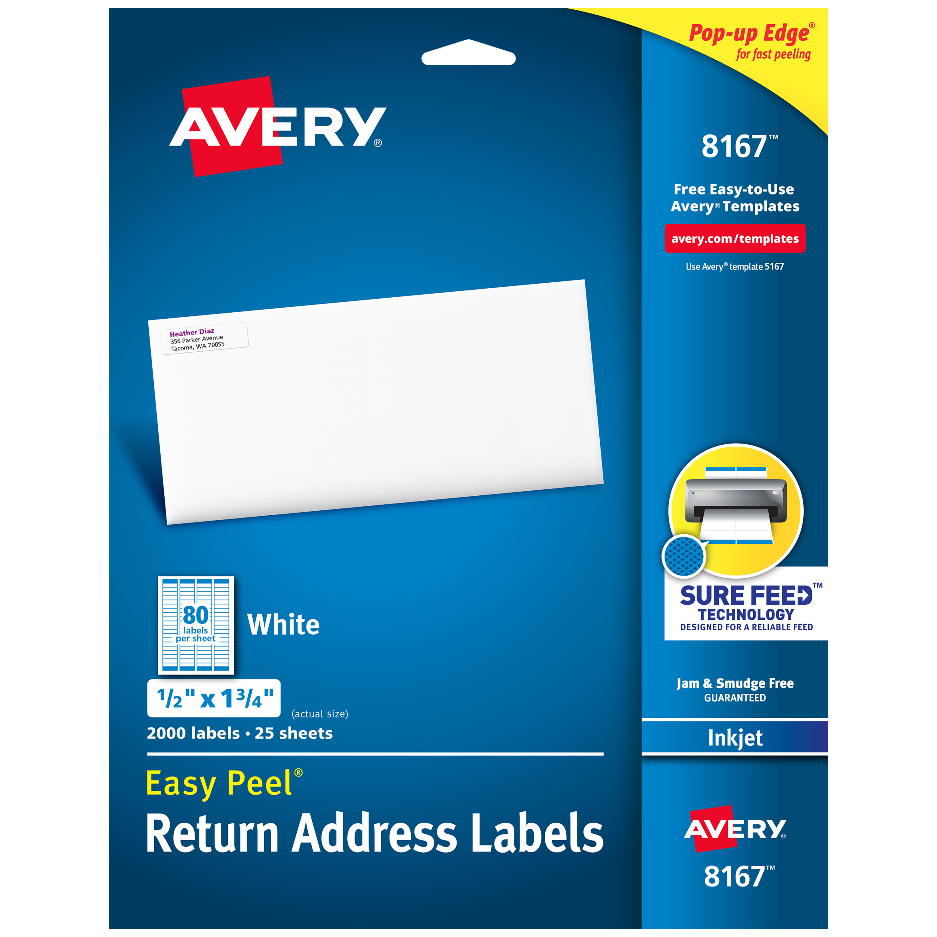 Avery Easy Peel Return Address Labels Sure Feedtechnology